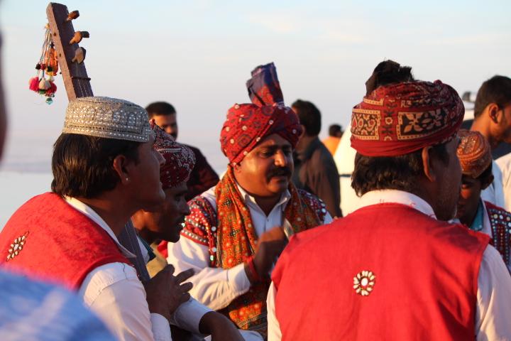 Artist performing at Rann Utsav