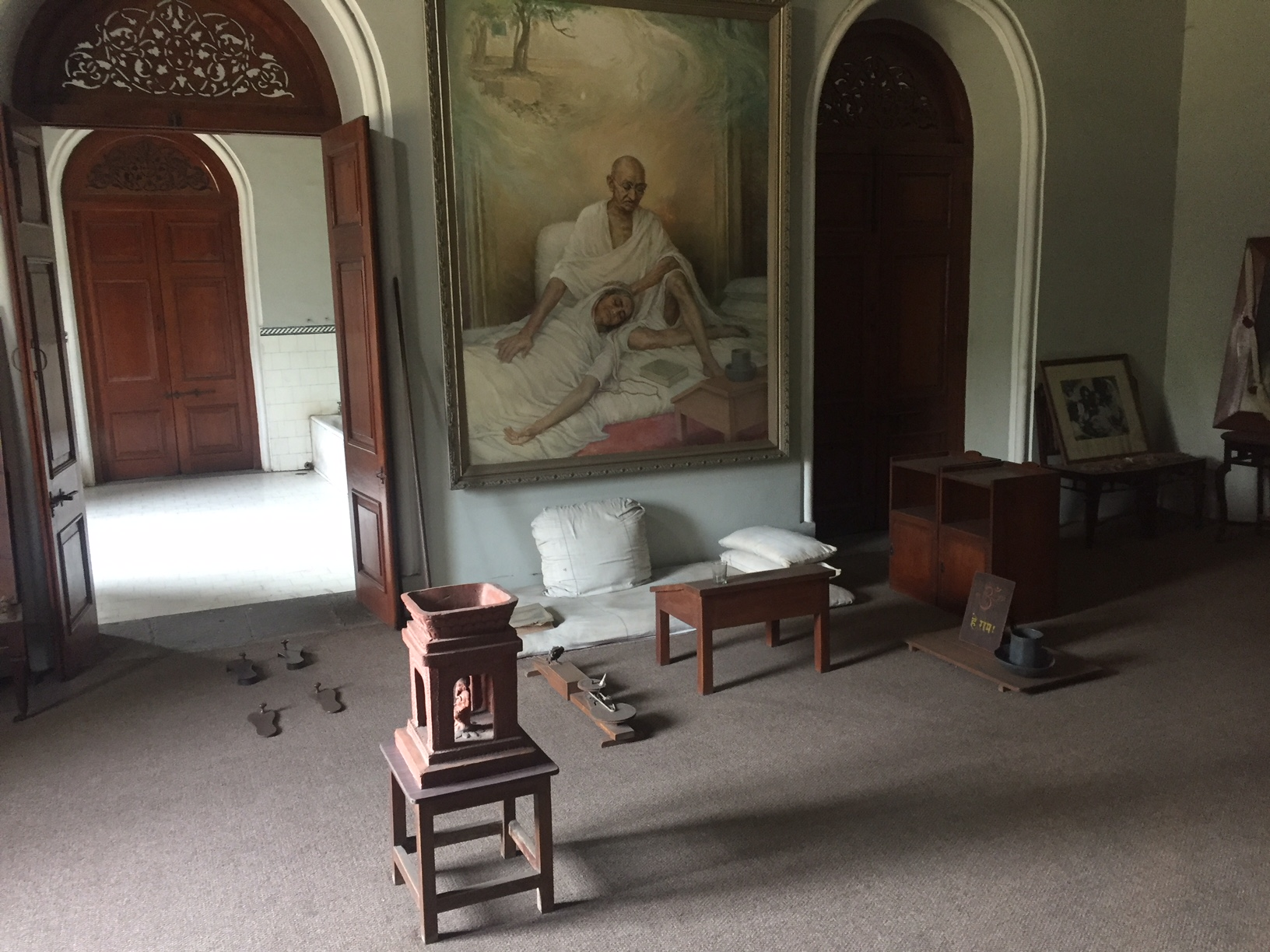 Aga Khan Palace - Gandhi's Table